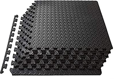 HTNBO Square Feet Puzzle Exercise Mat with EVA Foam Interlocking Tiles for Exercise,Gymnastics and Home Gym Protective Flooring (216 SqFt)
