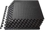 Swonuk esterillas de espuma entrelazadas esterilla puzzle de fitness y de goma espuma protector de suelo puzzle alfombrilla de ejercicio 30 * 30 * 1cm