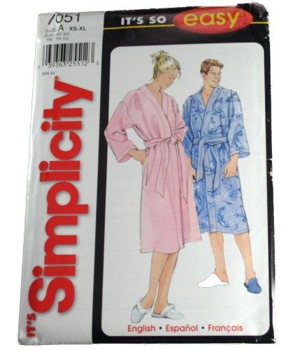 Simplicity Schnittmuster 7051 für Damen und Herren, Gr. XS-XL