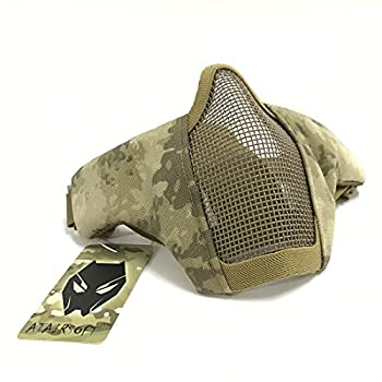 ATAIRSOFT Adjustable Military Tactical Protective Mesh Half Face Mask  at