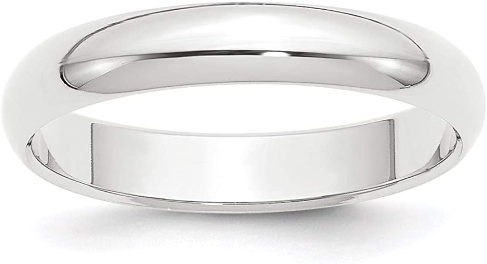 Platinum 4mm Half Round Wedding Ring Band Classic Domed Fashion Jewelry For Women Gifts For Her