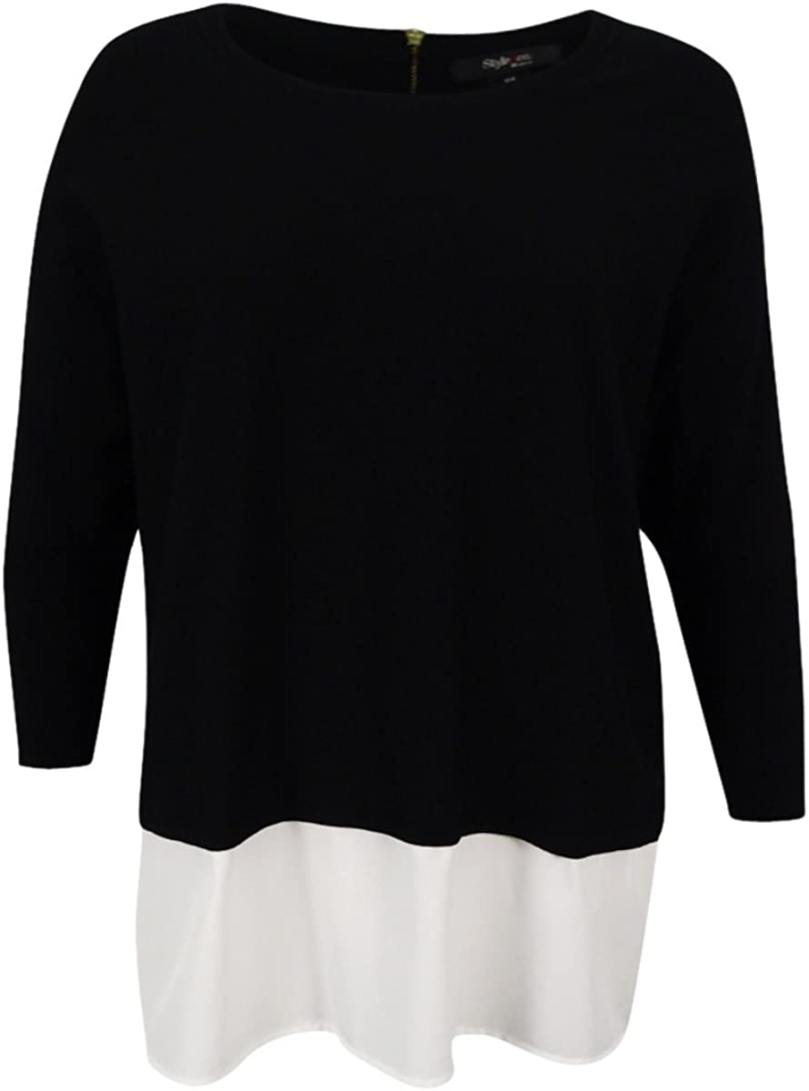 Style & Co. Women's Plus Size Layered-Look Sweater