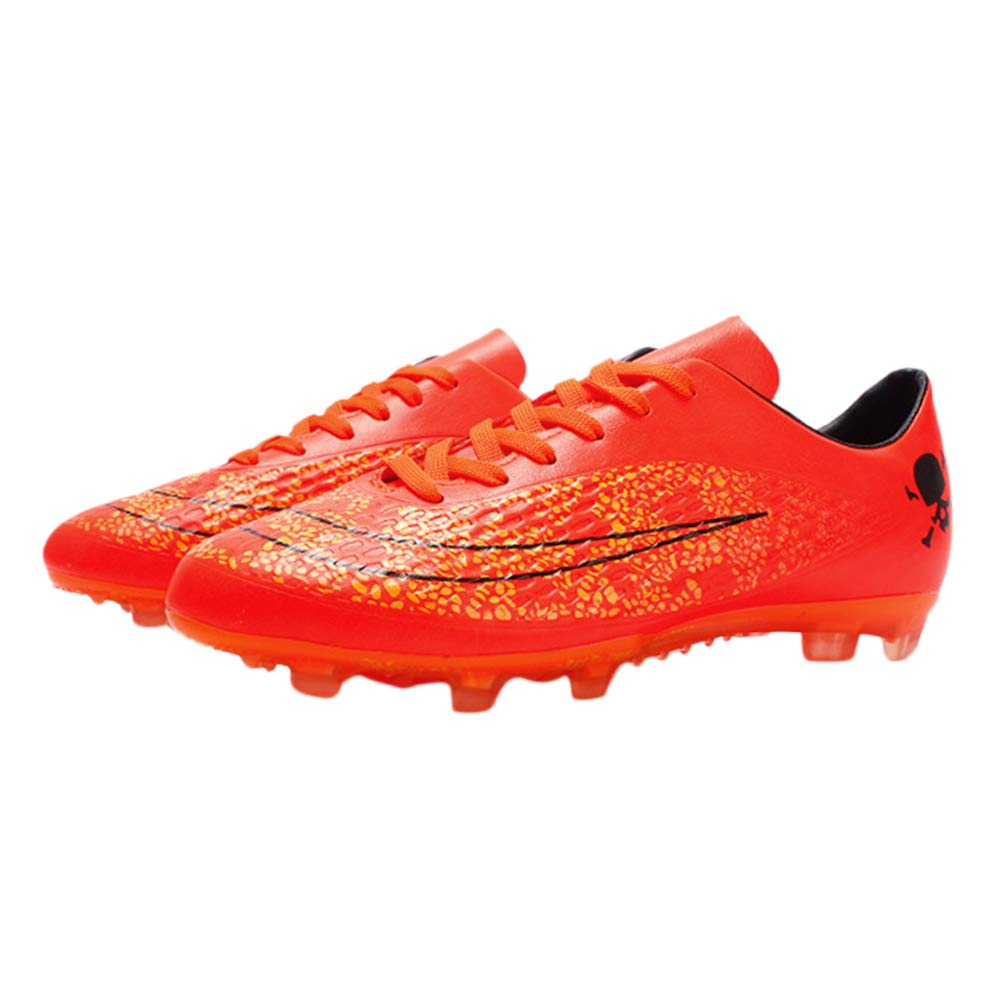 iFANS Men Athletic Outdoor//Indoor Comfortable Soccer Shoes Boys Football Student Cleats Sneaker Shoes