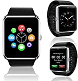 GT08 SmartWatch and Phone by Indigi - Universal Compatibility (iOS & Android) - Dial/Pickup Calls - Send/Read SMS & Notifications