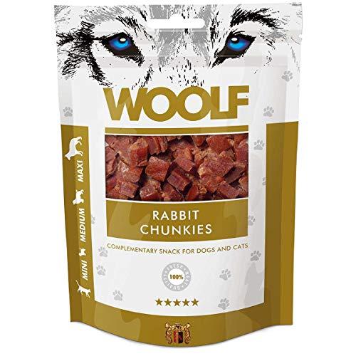 Woolf Cane, Snack Bocconcini Morbidi di Coniglio Gr.100