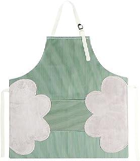 Auralto Stripe Apron Adjustable Neck Strap Waterproof Womens Apron for Cooking, Baking, Gardening