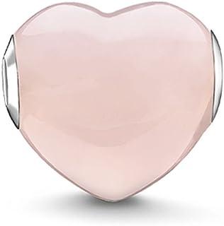 Thomas Sabo Femmes-Bead Cœur Quartz Rose Karma Beads Argent Sterling 925 K0202-034-9