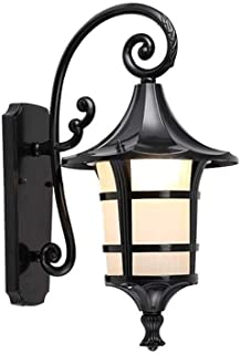 WZHZJ Vintage Wrought Iron Wall Lamp Industrial Retro Wall Lamp Copper Lamp Head Glass Living Room Dining Room Villa Light...