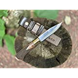 土佐アウトドア剣鉈120 青2 磨き 真鍮輪 チェッカー入り tautodoa-927