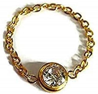 bijouxdemylene.fr Bague en Argent Massif 925//1000 pour Femme ou Fille Cercle avec Barre transversale et cha/îne Taille 55