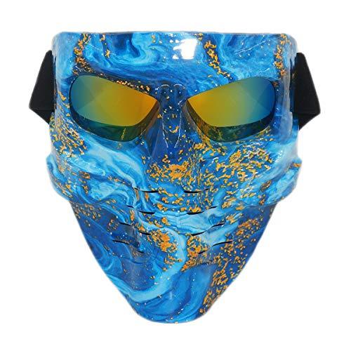Vhccirt - Máscara de Paintball, Airsoft, Moto o esquí, máscara de Pesca, para Hombre,...