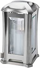 Paul Jansen Grave Lantern Rectangular Sheet Stainless Steel with Faceted Panes Height 24 cm