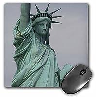 3drose LLC 8x 8x 0.25インチマウスパッド、自由の女神(MP 59247_ 1)