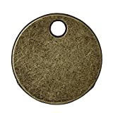 50 Antique Bronze Tone Round Circle 5/8 Inch Metal Stamping Blank and Crafting Tags 16mm Diameter Metal Blanks