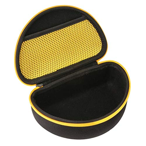 Khanka Hard Case for DEWALT DPG82-11/DPG82-21 Concealer Clear Anti-Fog Dual Mold Safety Goggle (yellow)