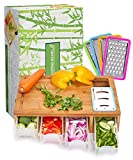 SHINESTAR Cutting Board with Containers, Lids, Graters,Bamboo Meal Prep Station, Cutting Board...