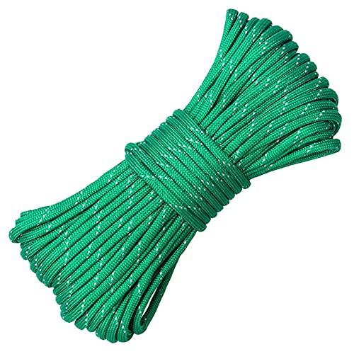 SOBW Cuerda de paracaídas, cuerda de nailon paracaídas, cuerda de supervivencia de 20 m, cuerda luminosa para camping, 550 de 9 núcleos
