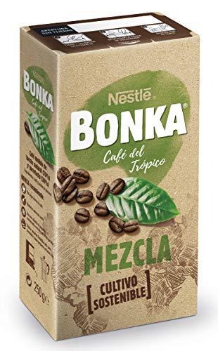 BONKA Café Tostado Molido Mezcla Suave - Paquete de Café de 8 x 250 g + 10%