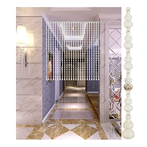 WENZHE Beaded Door Curtains For Doorways, Hand-carved Partition Wooden Curtain, Used for Living Room Balcony Closet Bathroom, 2 Colors (Color : A, Size : 31 Strands-120x80cm)