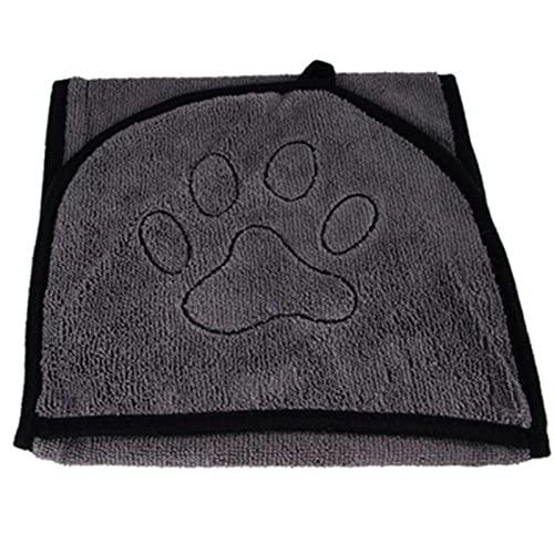JWDS Toalla para Perros Toallas De Baño para Perros Toalla De Baño para Perros De Mascotas para Pequeños Perros Medianos Microfibra Super Absorbente Secado De Toalla De Secado con Bolsillo