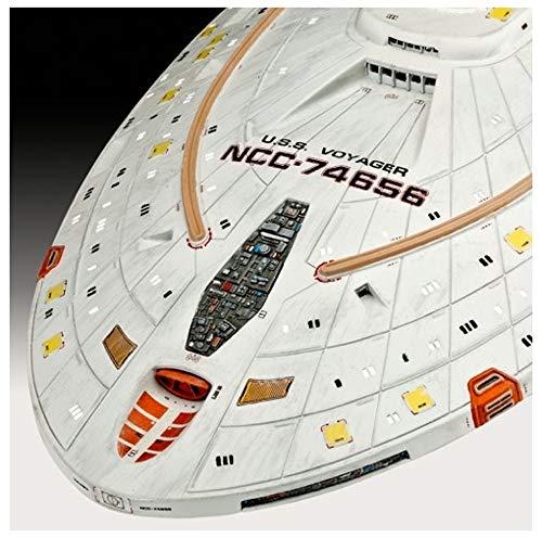 Revell 04992 USS Star Trek: Voyager originalgetreuer Modellbausatz für Fortgeschrittene, 1:670/51,4 cm, 1/670