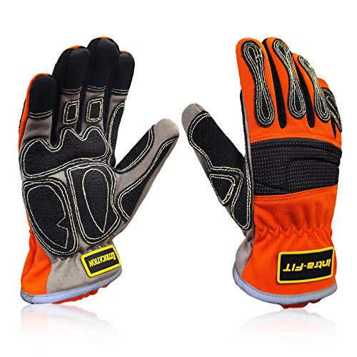Intra-FIT Extrication Rescue Glove Cut Resistant, Water-proof,Kevlar Stitches EN388 Rate 4242XP, Size L