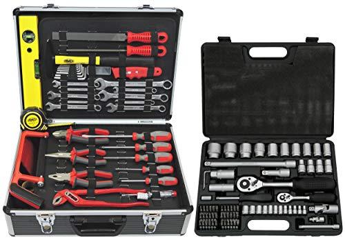 FAMEX 744-51 Universal Werkzeugkoffer mit Steckschlüsselsatz 4-32 mm
