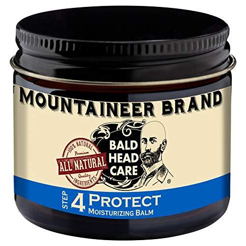 Mountaineer Brand Bald Head Care - Protect - Men's All Natural Moisturizing Balm Daily Moisturizer 2 oz.