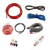 Mintice - Kit de cableado para amplificador de auto, subwoofer de audio, cable de alimentación AMP, RCA, fusible AGU, calibre 8, cable GA AWG, conector de instalación