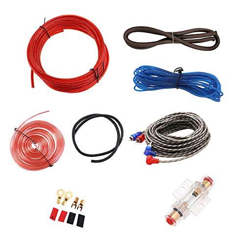 Mintice Auto Versterker Bedrading Kit Audio Subwoofer AMP RCA Power Cable ﺮFUSE 8 Gauge GA AWG draad Installeer Connector Houder Automotive Van