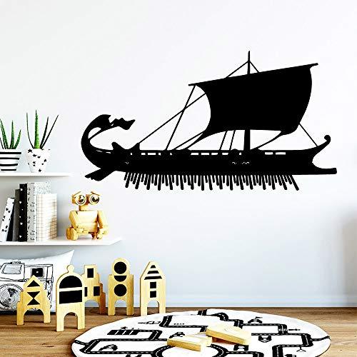 Papel pintado de velero móvil decoración del hogar etiqueta de la pared impermeable para la oficina de la empresa en casa mural de arte decorativo otro color 57x104cm