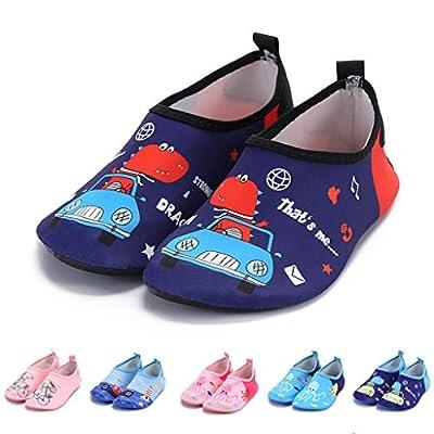 Kids Cartoon Water Shoes Boys Girls Aqua Socks ...