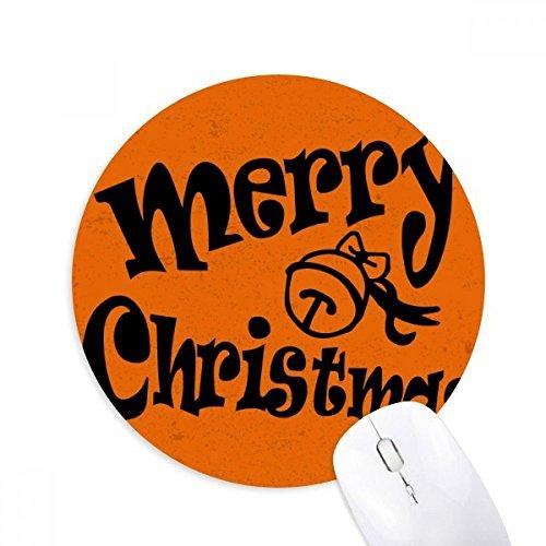 DIYthinker zwart heerlijk lettertype vrolijke kerst ronde anti-slip rubber muismat spel office muismat cadeau