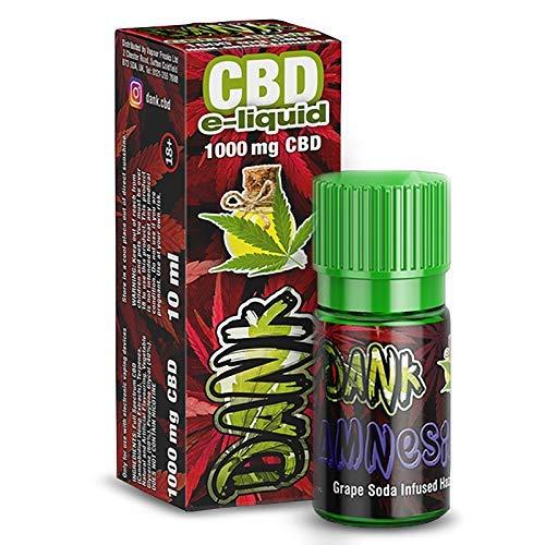 Vollspektrum CBD E-Liquid Amnesia 10ml, 600mg CBD | 60VG / 40 PG | kann gegen Schmerzen, Entzündung & Stress helfen - Vape Liquid ohne Nikotin
