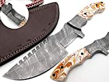 Nooraki TRK-53, Custom Handmade Tracker Knife - Special Promotional Price Damascus Blade Full Tang