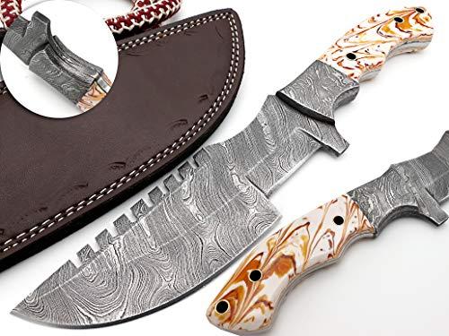 Nooraki TRK-53, Custom Handmade Tracker Knife - Special Promotional Price Damascus Blade Full Tang