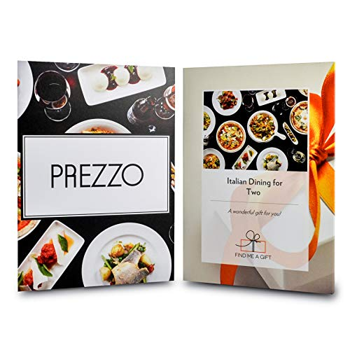 Activity Superstore Italian Dining for Two Gift Experience Voucher - Choose From Over 190 Prezzo Restaurants - Romantic gift present couple date anniversary birthday Christmas