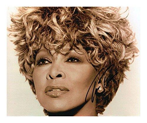 Photo Tina Turner signiert mit Autogramm, 20,3 x 25,4 cm