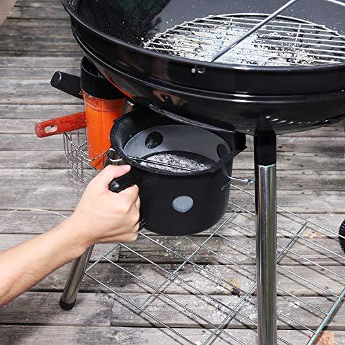 TACKLIFE Holzkohle Grill, Kugelgrill 91 * 76 * 56 cm, ø 57cm mit 4 Dicke Beine, Rundgrill mit Extra Grill und Regal, geeignet für Partys, Camping, Grillen (Empfohlene: 5-12 Personen) - CG01A - 11