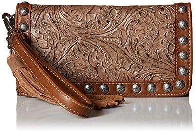 M&F Western Women's Ariana Clutch Wallet Brown One Size