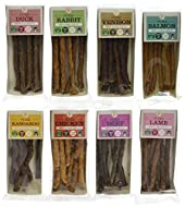 J R Pet Products Pure Dried 100% Fresh Meat Dog Treat Sticks 8 x 50g Variety Bundle