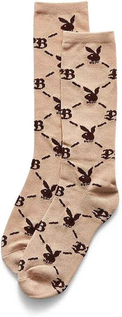 Playboy Men's By PacSun Monogram Print Crew Socks
