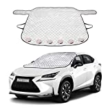 Windshield Cover for Ice and Snow, Car Windshield Winter Frost Cover with Magnetic Edge, Protect in All Weather Fit Most Cars and SUV