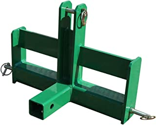 Titan Distributors Inc. Green Tractor Drawbar with Suitcase Weight Brackets and a 2