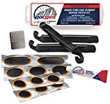 RocRide 16-PC Inner Tube Patch Bicycle Repair Kit. Also for Inflatable Dinghies, ATVs, BMX and Motorcycles.