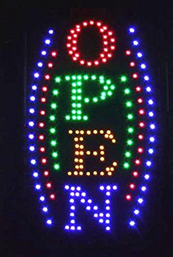 LED Schild Leuchtschild Reklame LEUCHTREKLAME Werbung versch.stylen DISPLAY SIGNS OPEN 4