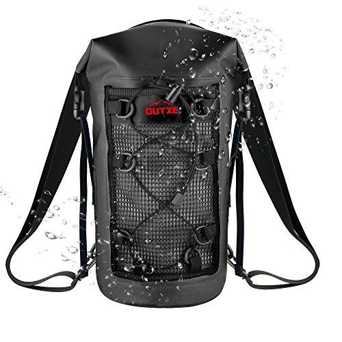 OUTXE IP67 Kayak Dry Bags Waterproof Backpack 10L 100% Watertight PVC-Free for Skiing Skating Kayaking Boating