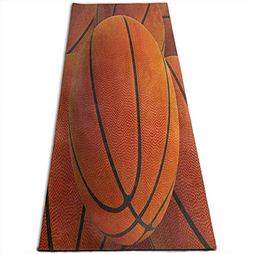 Hipster Basketball Ballon Tapis de Yoga pour Tapis de Yoga pour Exercices de Yoga, Yoga, Pilates, Exercices au Sol, Stretch [61X180Cm]