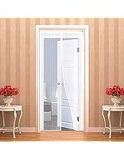 Magnetische vliegengaas 105 x 250 cm | 41 x 98 inch voor deuren, insectenbescherming, het magneetgordijn, vliegengordijn, klamboe ideaal voor balkondeur, woonkamer, kelderdeur en terrasdeur