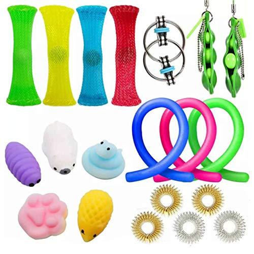 QIQIDIAN Kit De Juguetes Antiestrés, Sensory Fidget Toys Set De Juguetes Sensoriales Set De Juguetes Sensoriales para TDAH, Autismo,Set c